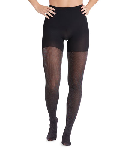 Tight End Ribbed Shimmer Tights