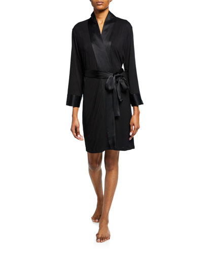 Essentials Jersey Robe w/ Satin Trim