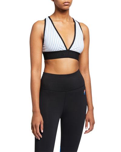 Bodywork Striped Sports Bra