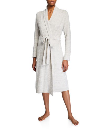 Serenity Heathered-Knit Robe
