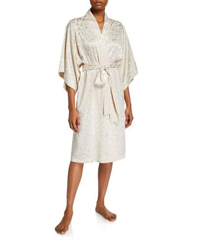 Decadence Tonal-Print Robe