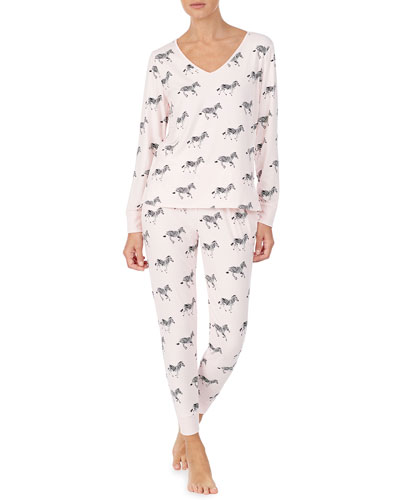zebra dazzle long pajama set