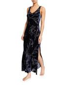 Christine Lingerie Faberge Floral Velvet Nightgown