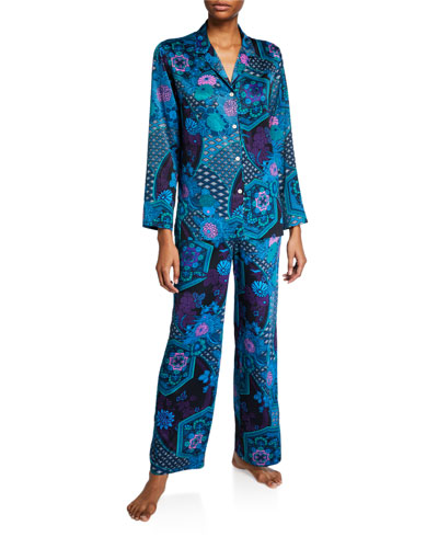 Empress Floral-Print Pajama Set