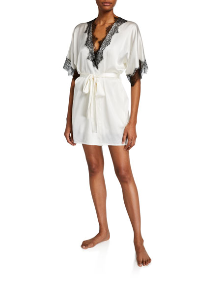 Christine Lingerie Arabella Lace-Trim Short Robe
