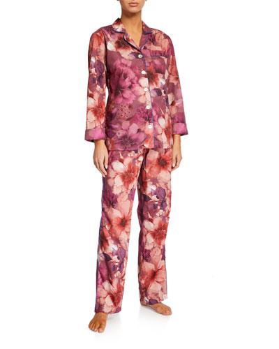 Emma Floral-Print Classic Pajama Set