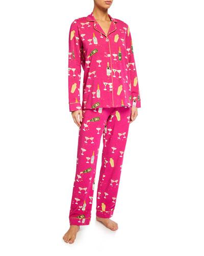 Champagne Graphic Classic Pajama Set