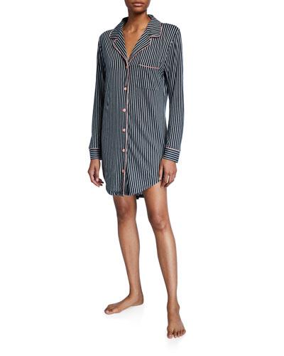 Bella Striped Long-Sleeve Sleepshirt
