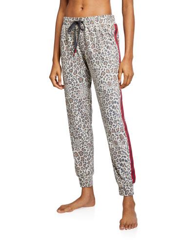 Wild Heart Leopard-Print Jogger Pants