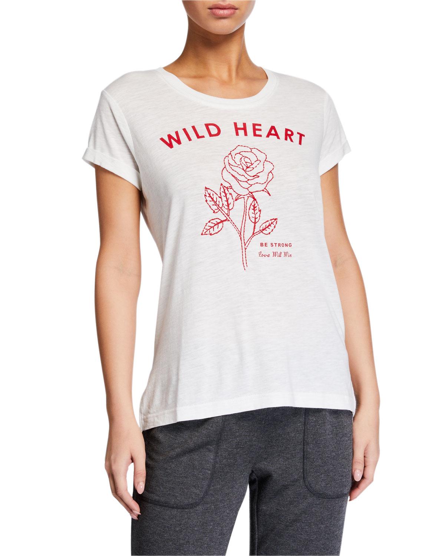 Pj Salvage T-shirts WILD HEART GRAPHIC T-SHIRT