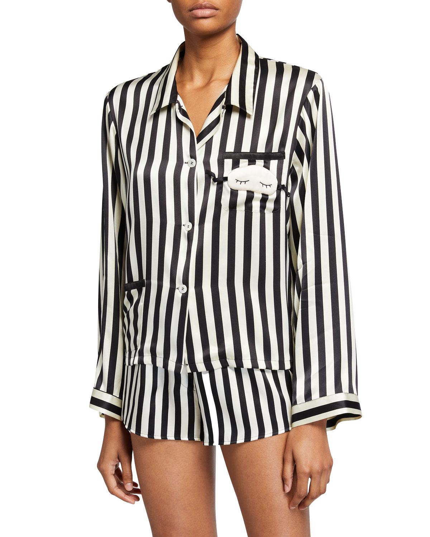 Ruthie Mini Mask Silk Pajama Top