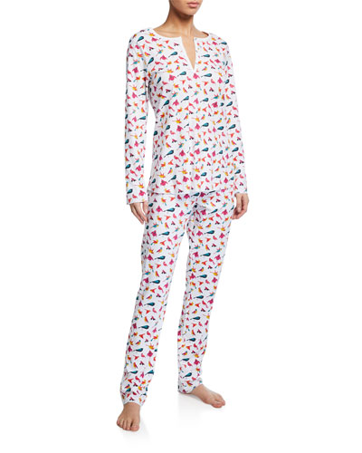 Funny Birds Long Pajama Set