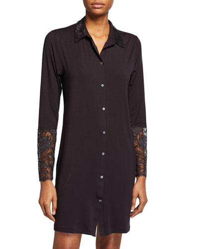 Sensual Lace-Trim Sleepshirt
