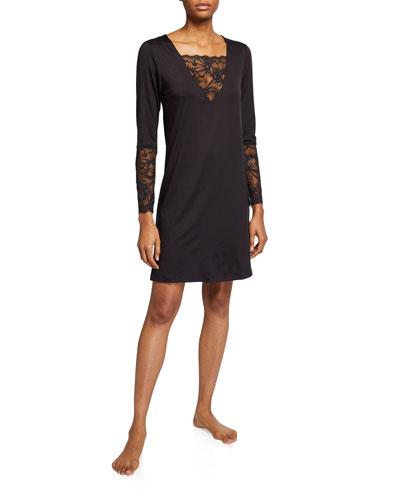 Sensual Lace-Inset Sleepshirt