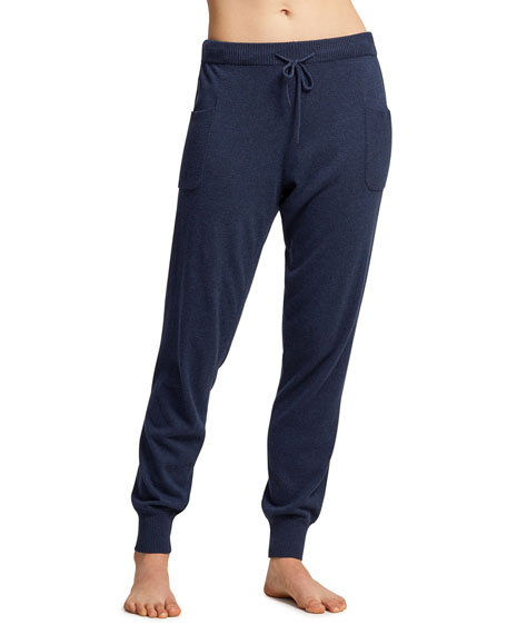 Fleur't Drawstring Jogger Lounge Pants with Rib Detail