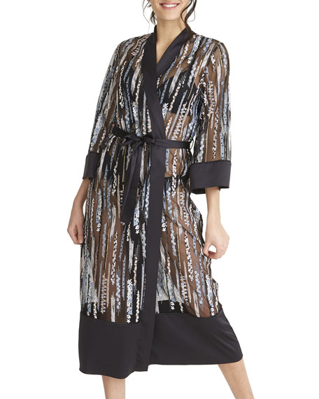 Rya Collection Modesty Semisheer Long Robe