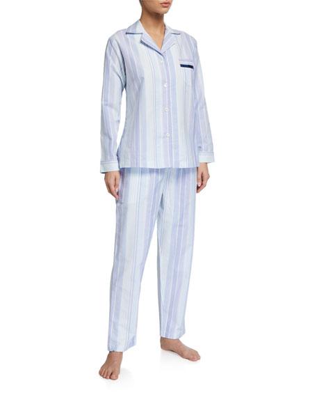 P Jamas Striped Woven Pajama Set