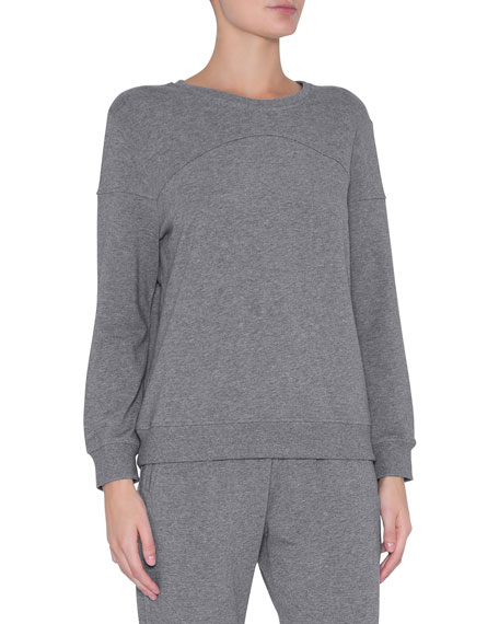 Eberjey Odile Piped Long-Sleeve Lounge Top