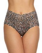 Hanky Panky Retro Leopard-Print Lace Briefs