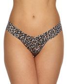 Hanky Panky Leopard-Print Lace Low-Rise Thong