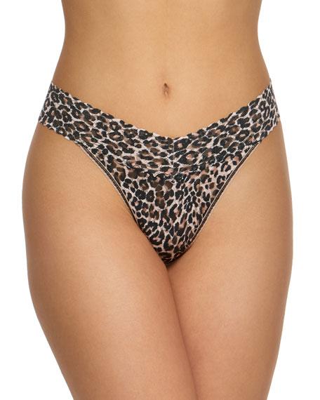 Hanky Panky Leopard-Print Original-Rise Lace Thong