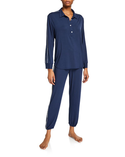Gisele Long-Sleeve Sporty Pajama Set