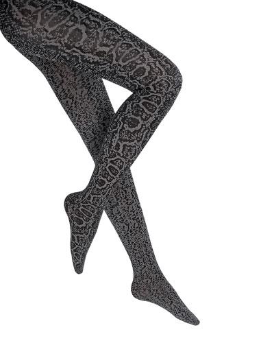 Blotched Snake Pattern Tights