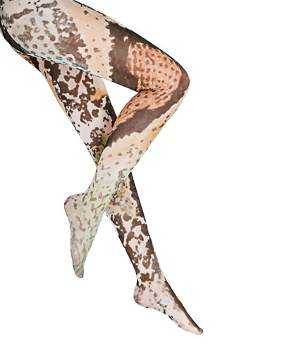 Serpentes Reptile-Pattern Tights
