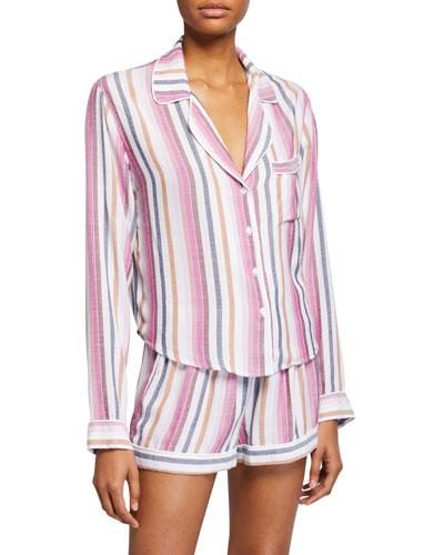 Kellen Shortie Stripe Pajama Set