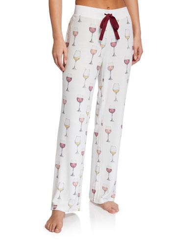 Evening Forecast Wine Pajama Pants
