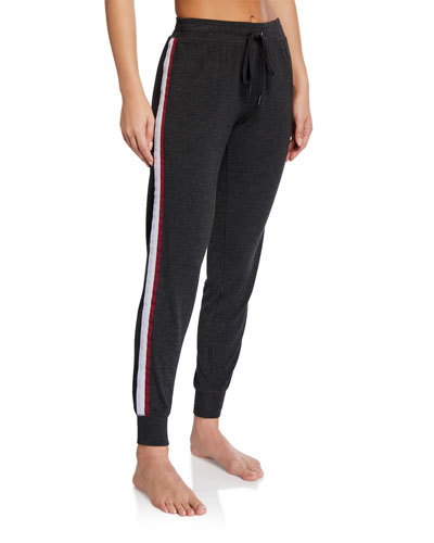Peachy-In-Color Side-Stripe Jogger Lounge Pants