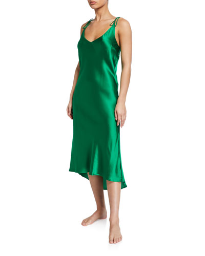 Aurora Solid Silk Nightgown