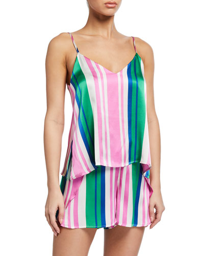 Francesca Striped Silk Camisole