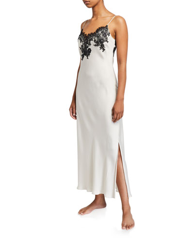 L'Amour Lace-Trim Nightgown