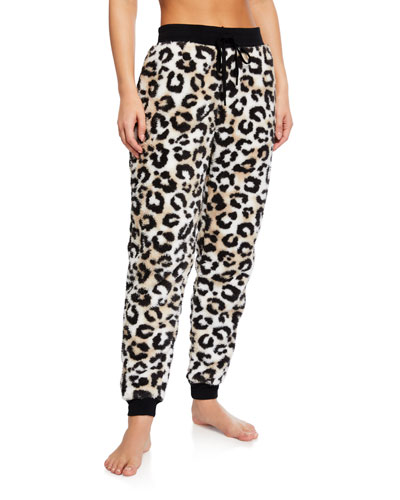 Cozy Cheetah Jogger Lounge Pants