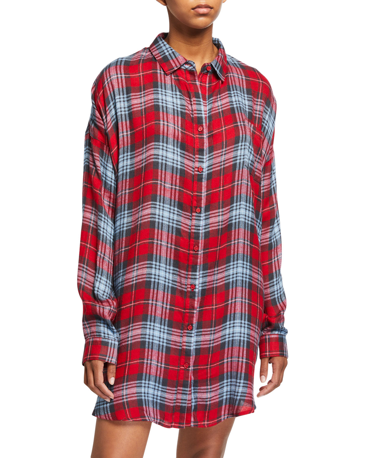 Pj Salvage SNOWED IN PLAID SLEEP SHIRT