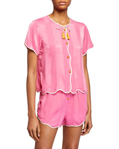 Beatrice Scalloped Pajama Top