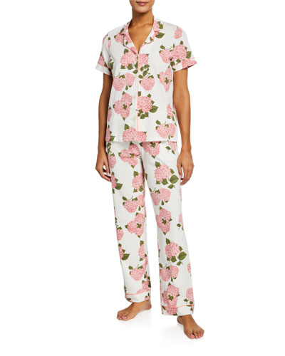 Floral Short-Sleeve Classic Pajama Set