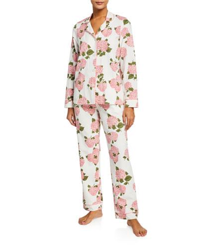 Plus Size Leopard-Print Classic Pajama Set