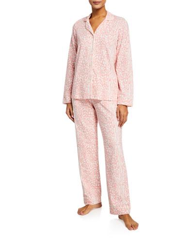 Leopard-Print Classic Pajama Set