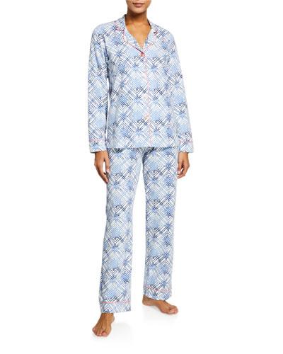 Geometric-Print Classic Pajama Set