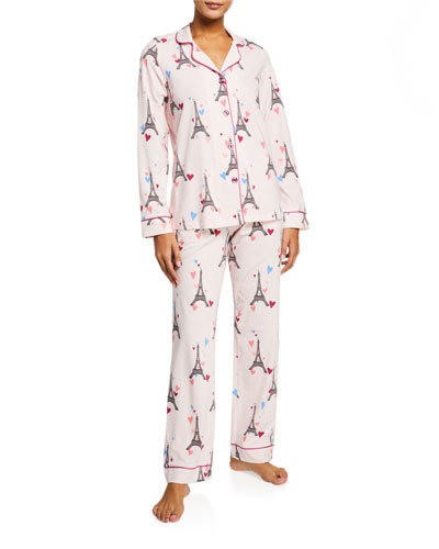 Plus Size Eiffel Tower Classic Pajama Set
