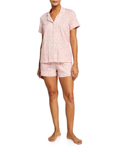 Leopard-Print Shortie Pajama Set