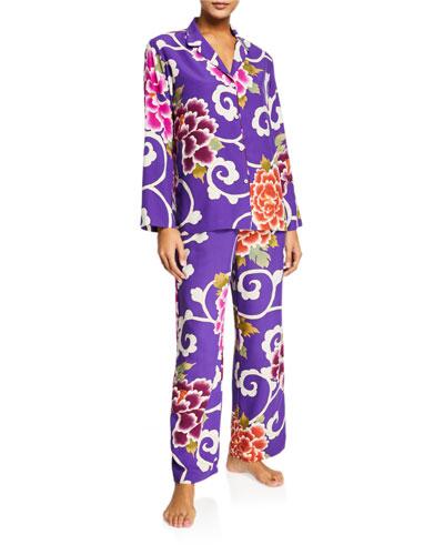 Samarkand Floral-Print Pajama Set