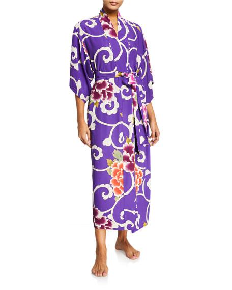 Natori Samarkand Floral-Print Robe
