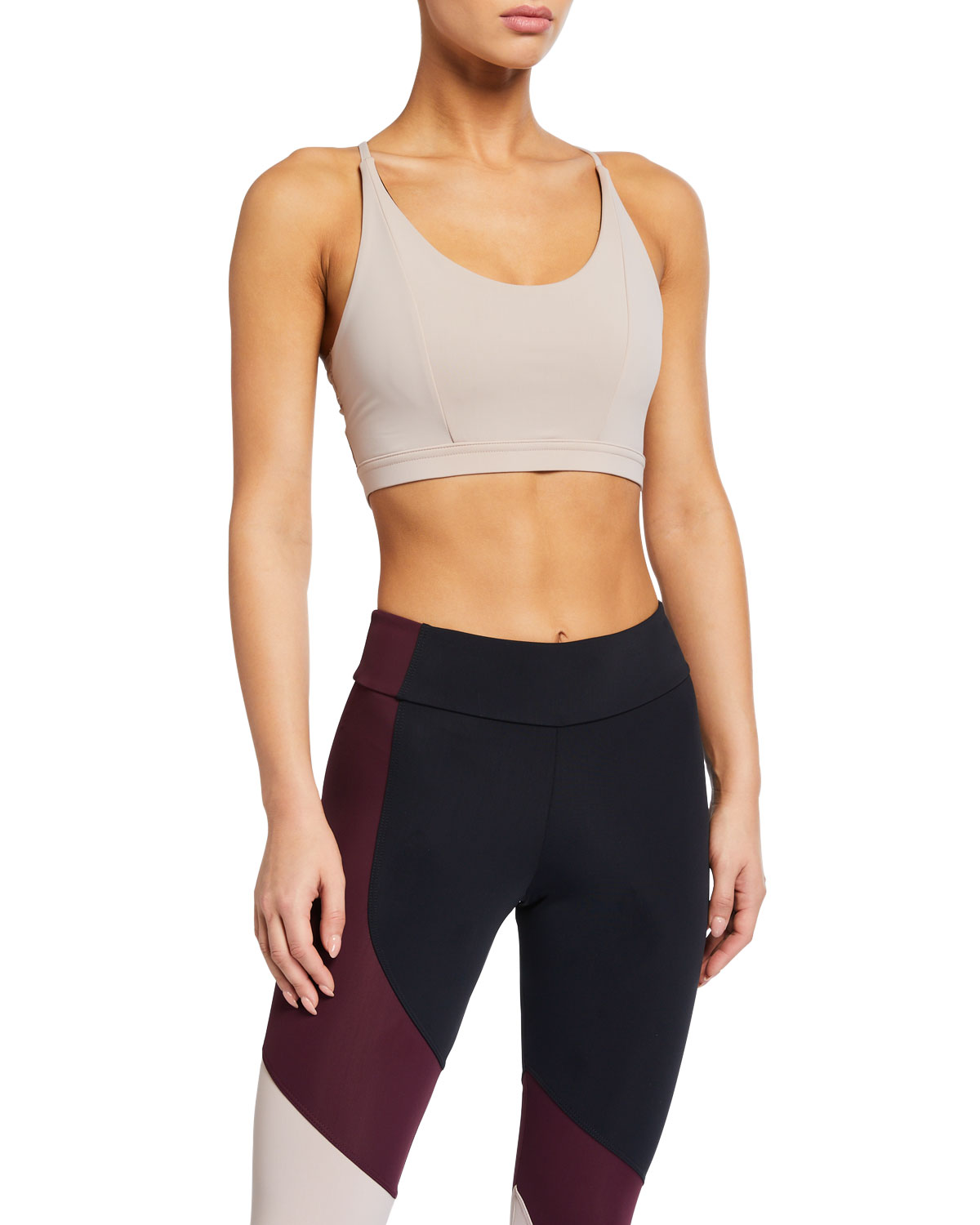 Onzie  SCOOP-NECK STRAPPY BOW SPORTS BRA