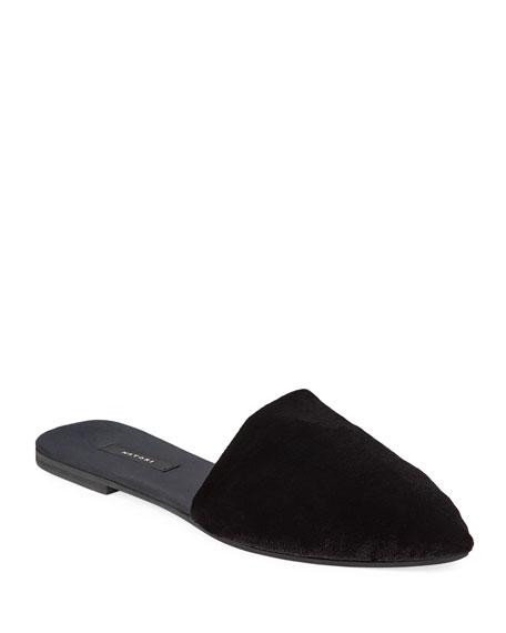 Natori Solid Velvet Mule Slippers