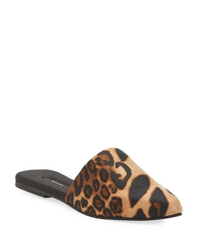 Luxe Leopard-Printed Mule Slippers