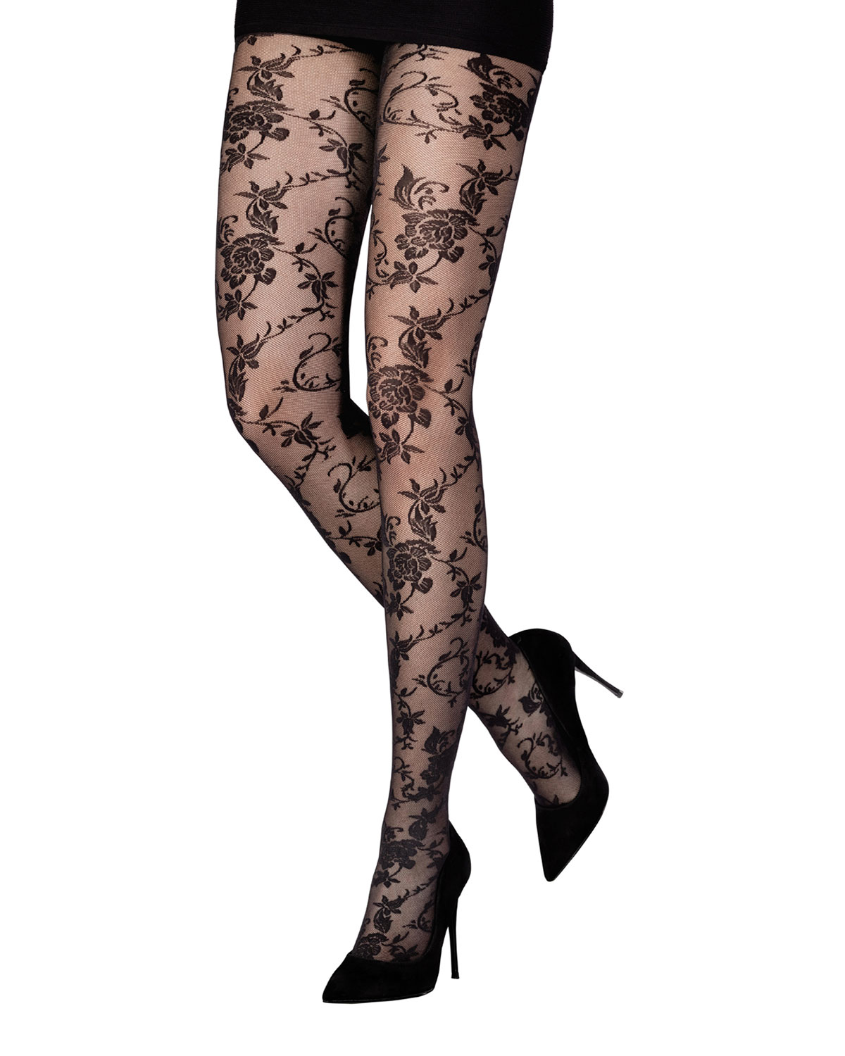 Dreamy Floral Lace Tights
