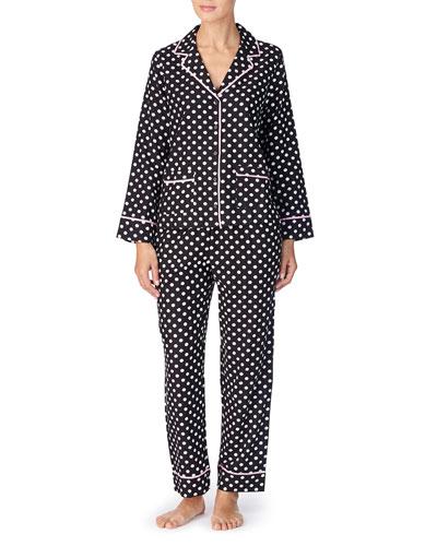 polka dot twill classic pajama set
